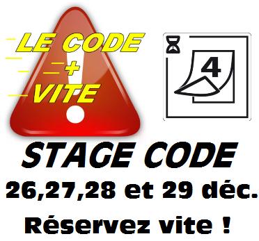 stage code décembre