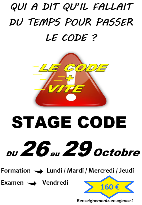 stage code mirabeau conduite