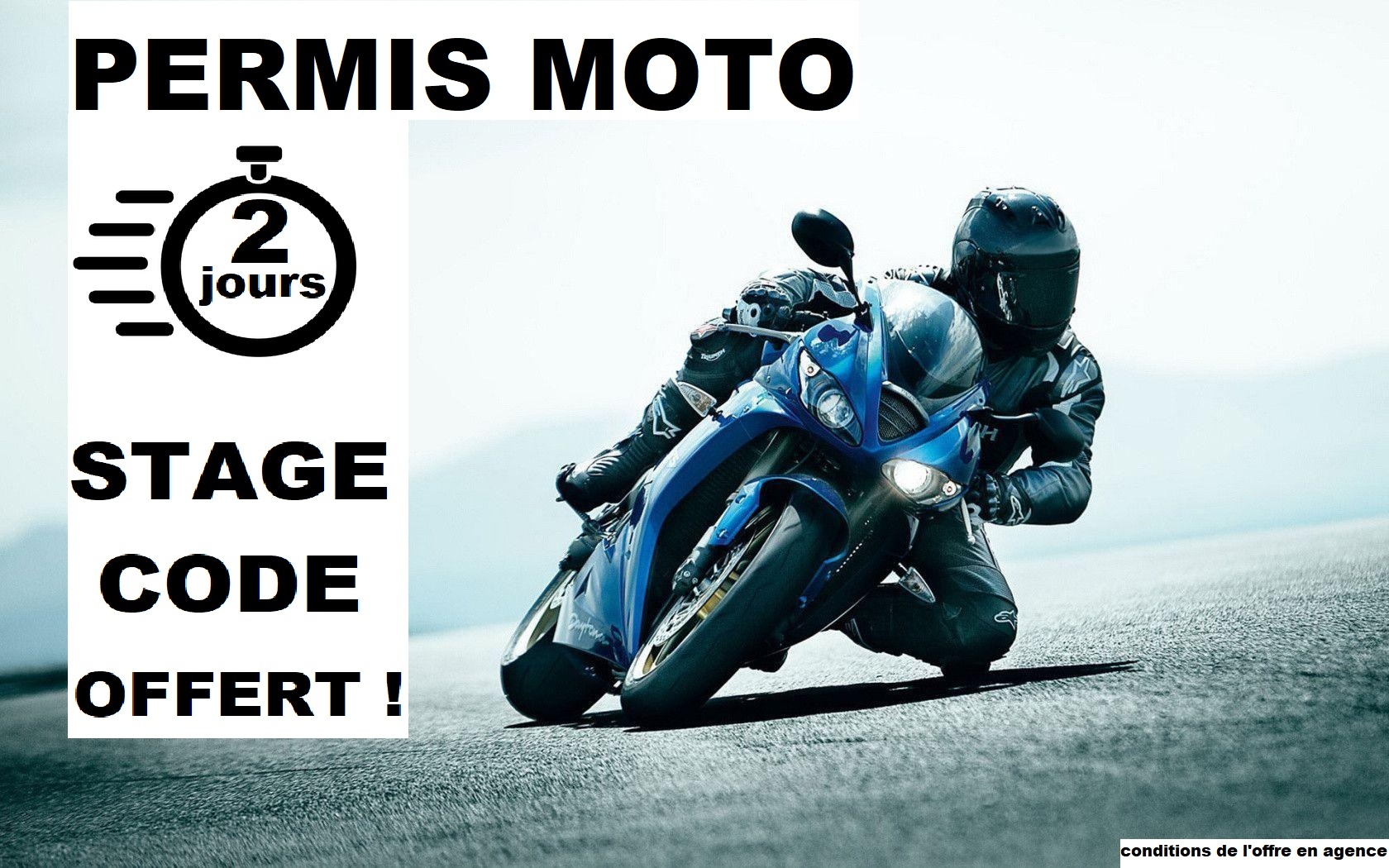 Permis Moto : STAGE CODE OFFERT